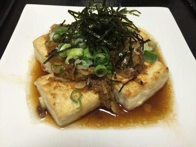 和風アンチョビ豆腐ステーキ