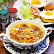 パプリカとトマトの元気スープ