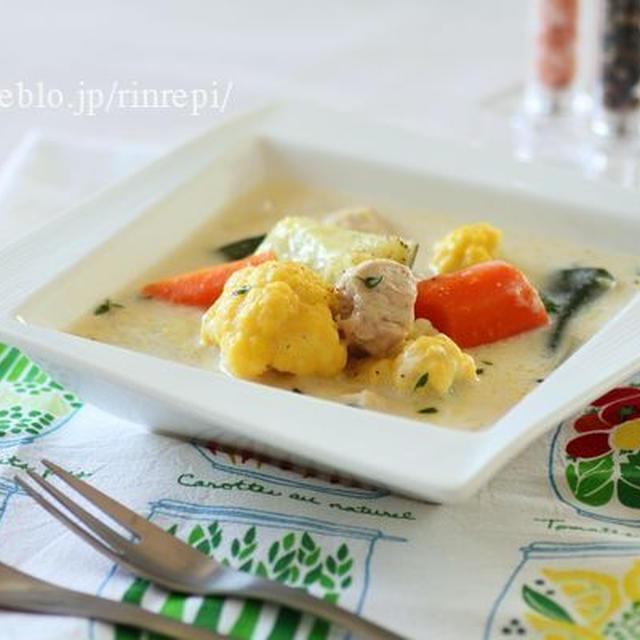 北海道野菜でヘルシー米粉シチュー