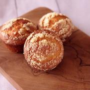 ホットケーキミックスで簡単3ステップ☆ふわふわ感動、朝食チーズマフィン♪