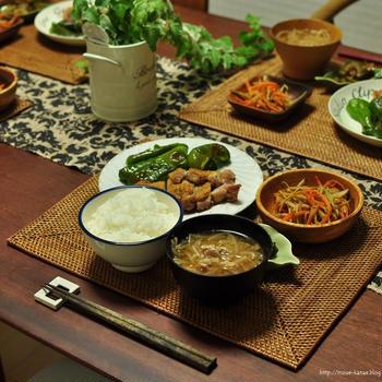 お盆休み中の晩ごはんと、美容室にて@新米パパへおせっかいマダムたちの雑談w【一品でお肉もお野菜も摂れるレシピ】