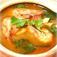 **【W shrimpスープ】**白だし仕立ての ~干し海老と海老のエスニックスープ~