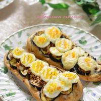 茄子と卵のツナ味噌&クリームチーズブランナン♬