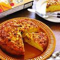 昭和産業 ケーキのようなホットケーキミックスdeバニラとバターミルク香る「りんごとレーズンとクルミのファーブルトンケーキ」 【フーディストアワード2019】【レシピ1913】