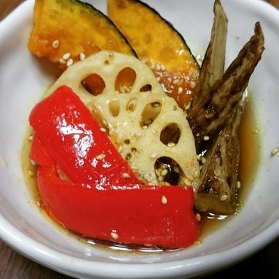 カレー風味の野菜の揚げ浸し
