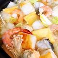 あまったお餅で♪「七福みぞれ鍋」(レシピ)