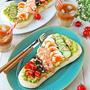 ナンに乗せるだけでおしゃれなカフェ風朝食企画♪ナンコブサラダ by ぱお