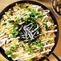 大きく焼こう!自然薯入り低糖質たこ焼き/自然薯の浅漬け
