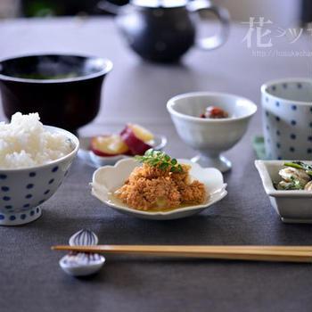 「春魚卵煮付け定食」