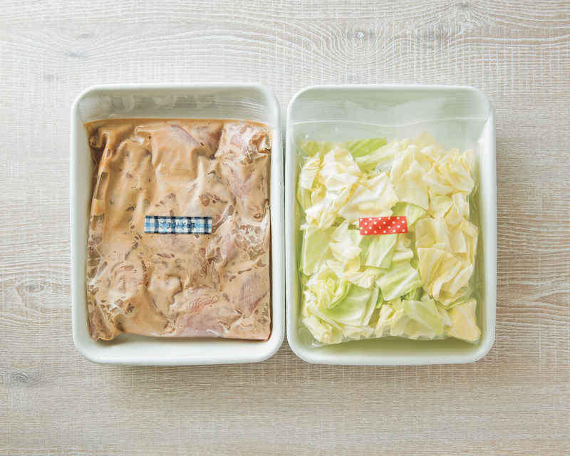 材料(保存袋:中1袋分) <br><br>【写真:左】<br>鶏もも肉…2枚<br>A 白練りごま…...