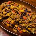 ひき肉と豆の味噌炒め煮
