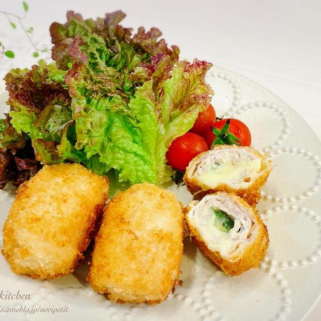 薄切り肉de<簡単>しそ&チーズのひと口ミルフィーユカツ