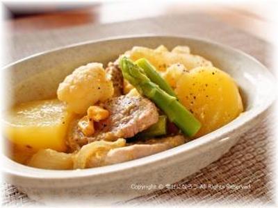 豚ヒレ肉のコーンクリーム煮