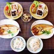 40%塩分カットのほっけの開き☆椎茸の肉詰めもね♪☆♪☆♪