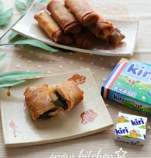 クリームチーズとあんこ餅のおやつ春巻き☆ & くらしのアンテナに掲載♪