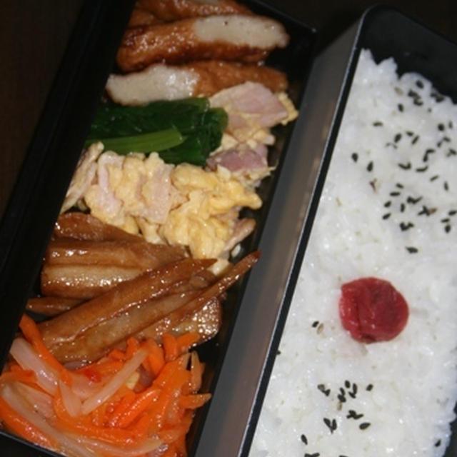7月10日  蓮根の ソースきんぴら弁当