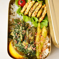 5月15日 土曜日 海苔たまサンド&山菜の塩天丼