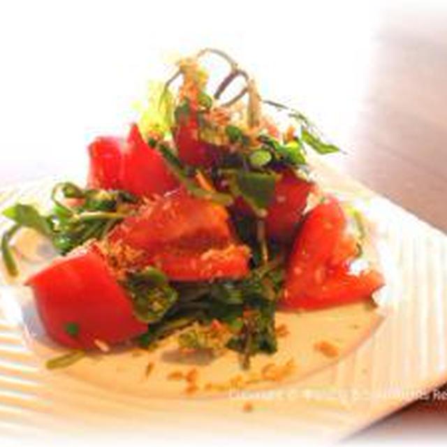 おいしいトマトで。トマトとクレソンのサラダ