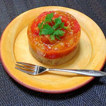『トマトとブランダードのテリーヌ』絵になる料理♪のつくレポです☆