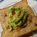 デニッシュ食パンDE抹茶きな粉黒蜜トースト
