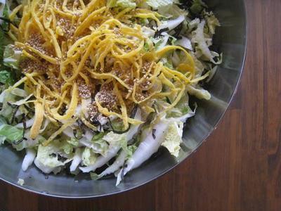 白菜の塩こぶサラダ