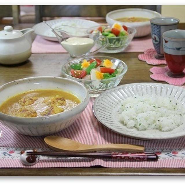 チキンボールカレー煮込み&バターライス 白梅(o^^o)