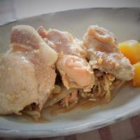 ◇鶏もも肉と豚ロース肉の生姜八角茴香蒸し