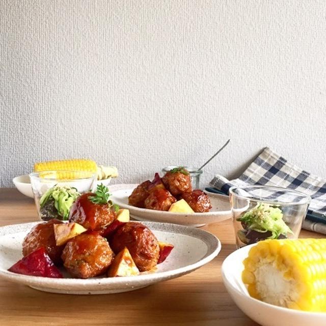 1/3がお豆腐でも大満足♪カリふわ♪お豆腐肉団子の甘酢あん
