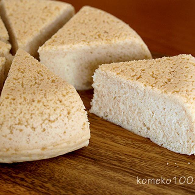 炊飯器でプレーン米粉ケーキ