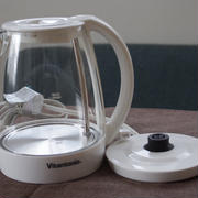 透明で可愛く衛生的、ビタントニオのガラス電気ケトル(VEK-600-W)
