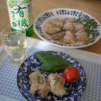 鶏肉の白ワインとローズマリー蒸し焼き