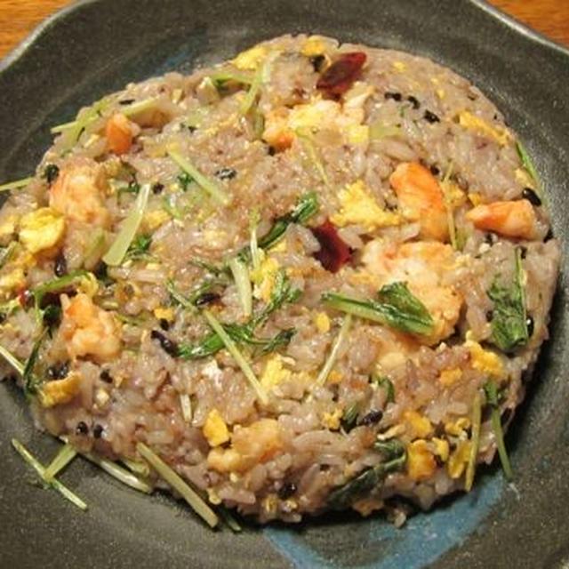 [レシピ] 水菜と小海老のチャーハン
