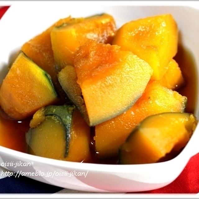 ■レシピ■包丁要らず、ガス要らず、レンジで作るほくほくかぼちゃ煮。