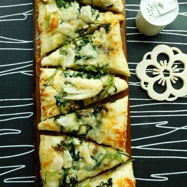 七草粥の七草を使ってピッツァとスパゲッティ