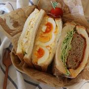 【萌断❤】メンチカツサンドと卵サンド弁当