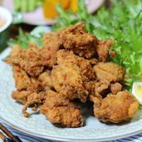 あらびきガーリック入りの鶏唐揚げ/格段に美味しく作るためのスパイス