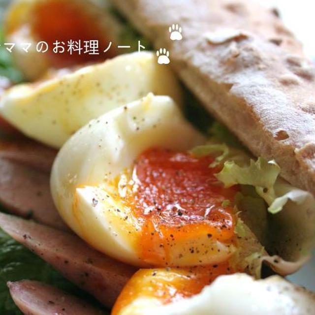 息子のお昼ご飯☆とろとろ卵のバゲットサンド