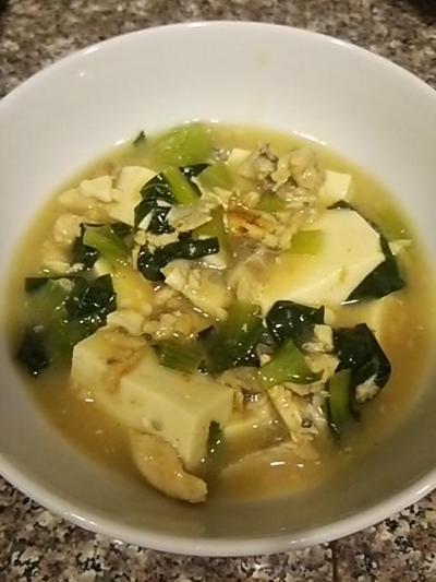 鯖と豆腐の花椒塩風味
