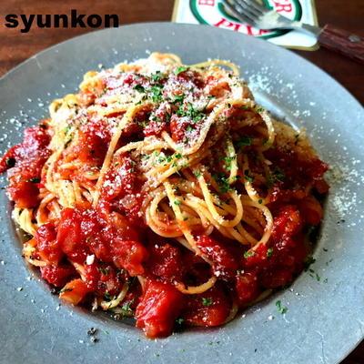 【レンジトマトソースで】トマトスパゲティ、オムレツ、ピザトーストなど