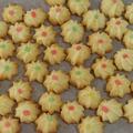 お菓子レシピ 『 サクッとおいしい ひとくち絞り出しクッキー 』