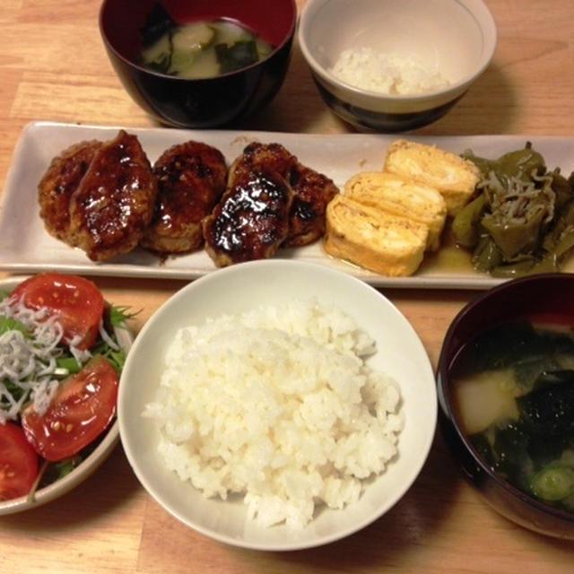 昨夜は豆腐入りつくねなど~!