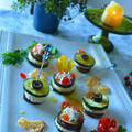 しらす×トマト+旬の野菜で 10分でお洒落ドレパンピンチョス  by 青山 金魚さん