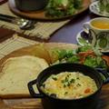 チーズがとろーりエビグラタンとカントリークッペ・プレート。