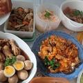 かきチリ&煮鳥&越前煮など家庭料理。。(犬仲間でパン作り)