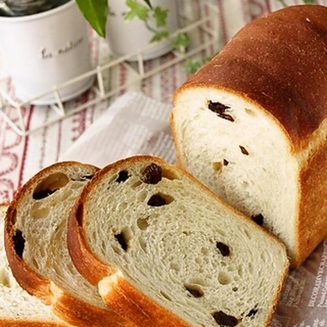 ホシノ天然酵母で♪カリフォルニア・レーズンのワンフローフ食パン