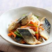 【塩鯖・野菜いろいろ】さっぱり美味しい*塩鯖の南蛮漬け