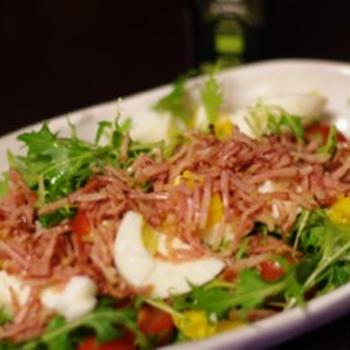 ベビー水菜のボリュームサラダ