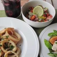 スペイン風な夕食 ♪烏賊を使って2品&無花果のサラダ♪