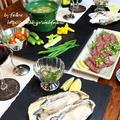 ◆霜降り馬刺しに生牡蠣で旨旨ごはん♪~ゆるやか糖質制