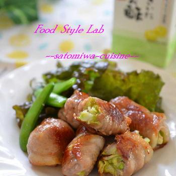 だしまろ酢で!さっぱり美味しい♡豚肉のキャベツ巻き酢豚
